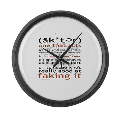 Actor (ak'ter) Meaning Large Wall Clock