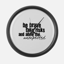 Be Brave Large Wall Clock