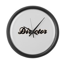 Director Baseball Large Wall Clock