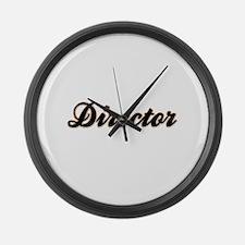 Director Baseball Large Wall Clock