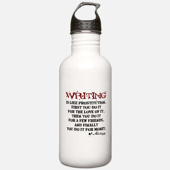 Moliere Writing Quote Water Bottle