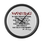 Moliere Writing Quote Large Wall Clock
