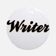 Writer Baseball Ornament (Round)