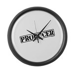 Producer Stamp Large Wall Clock