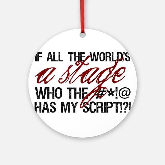 World Stage Ornament (Round)