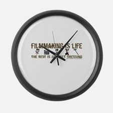 Filmmaking is Life Large Wall Clock