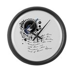 The Alchemy of Music Large Wall Clock