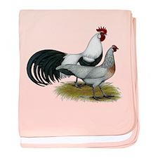 Phoenix Silver Chickens baby blanket