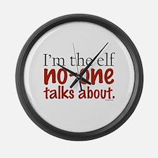 No Talk Elf Large Wall Clock
