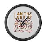Lord of Misrule/Twelfth Night Large Wall Clock