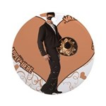 Valentine Wanted (Male) Ornament (Round)