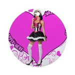 Female Valentine Wanted (Pink Ornament (Round)