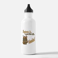 Happiness is a monkey Water Bottle