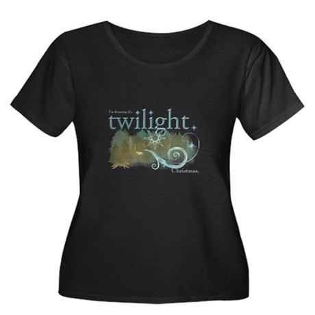 Twilight Christmas Women's Plus Size Scoop Neck Da
