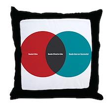 Music Elitism Throw Pillow