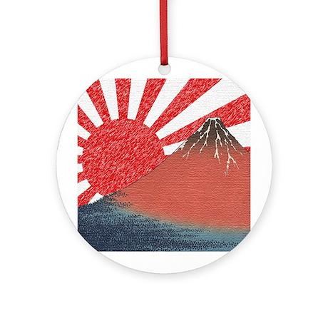 Fuji Flag Ornament (Round)