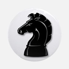 Chess Knight Ornament (Round)