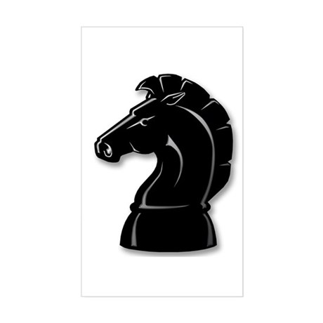 Chess Knight Rectangle Sticker