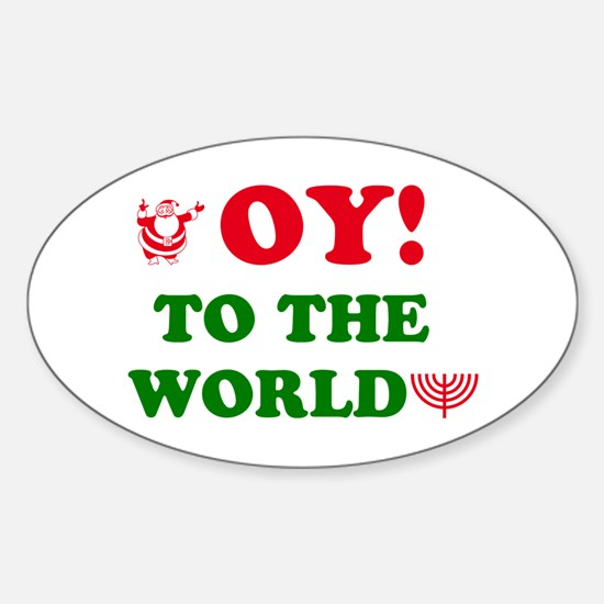 Oy to the World Sticker (Oval)