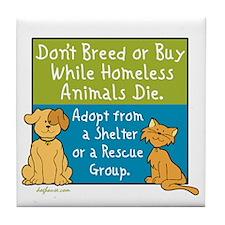 Adopt Shelter Rescue Tile Coaster