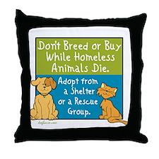 Adopt Shelter Rescue Throw Pillow
