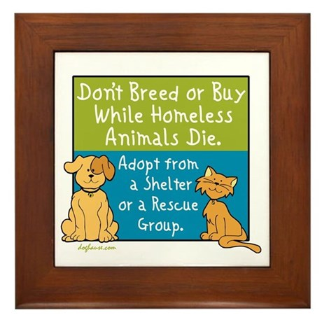 Adopt Shelter Rescue Framed Tile