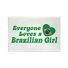 Everyone Loves a Brazilian Girl Rectangle Magnet