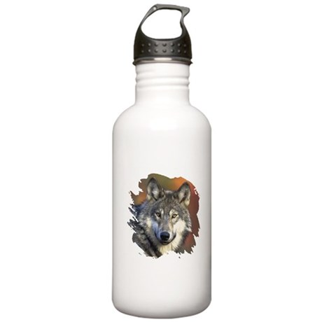 Gray Wolf Stainless Water Bottle 1.0L