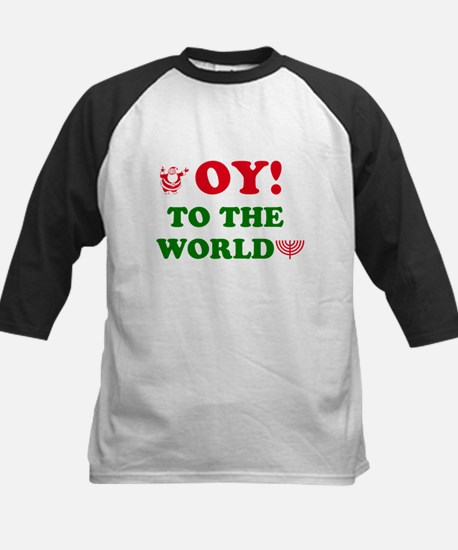 Oy to the World! Kids Baseball Jersey