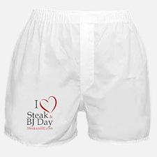 I Love Steak & BJ Day Boxer Shorts