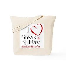 I Love Steak & BJ Day Tote Bag
