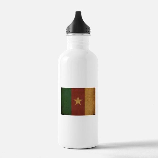 Vintage Cameroon Flag Water Bottle