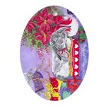 Rabbit Christmas Wish Ornament (Oval)