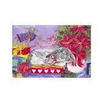 Rabbit Christmas Wish Rectangle Magnet