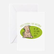 Funny Dog Groomer Greeting Card