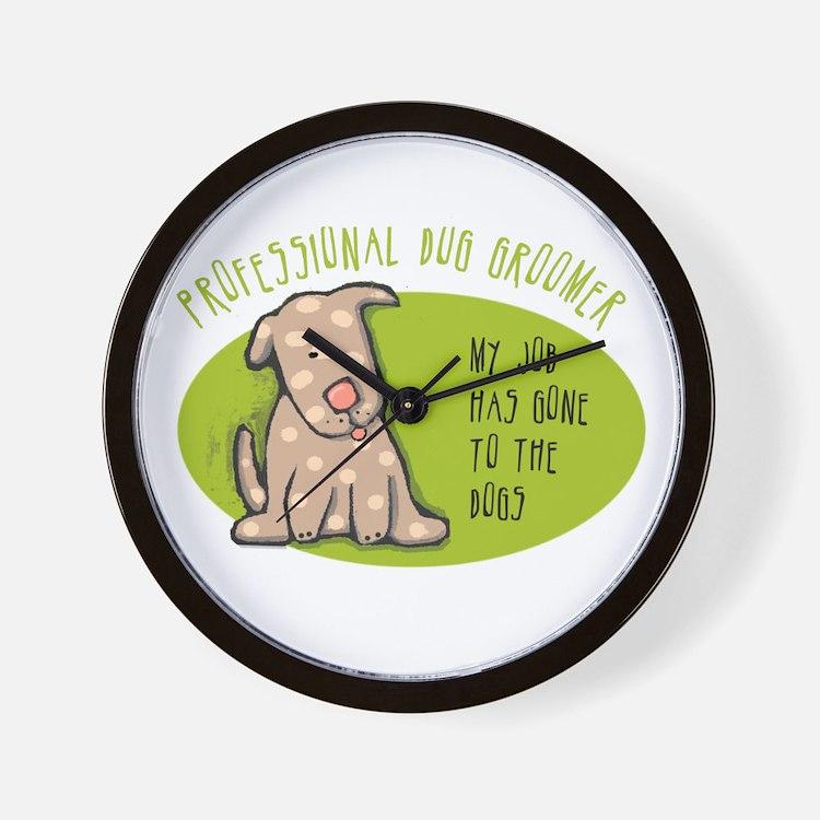 Funny Dog Groomer Wall Clock