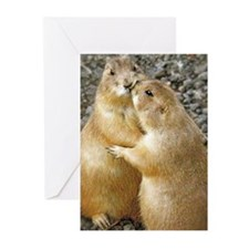 Prairie Dog Kiss Greeting Cards (Pk of 20)