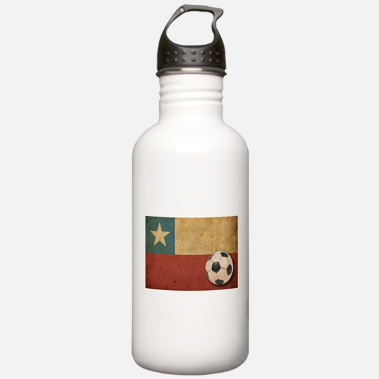 Vintage Chile Flag Water Bottle