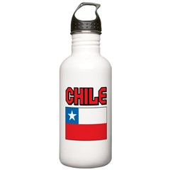 Chile Flag Water Bottle