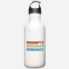 Retro Dominica Palm Tree Water Bottle