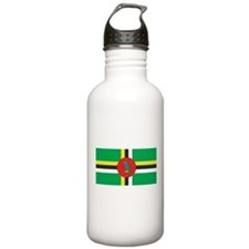 Dominica Flag Water Bottle