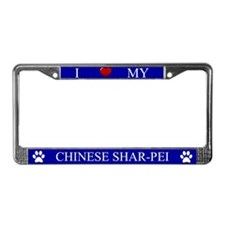 Blue I Love My Chinese Shar-Pei Frame