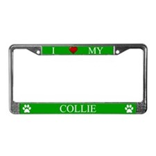 Green I Love My Collie Frame