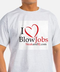 I Love Blowjobs! Ash Grey T-Shirt