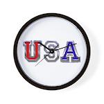 USA Chrome Wall Clock