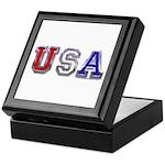 USA Chrome Keepsake Box