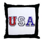 USA Chrome Throw Pillow