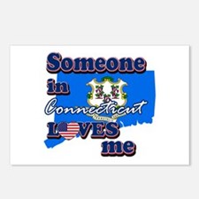 someone in connecticut loves me Postcards (Package