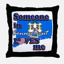 someone in connecticut loves me Throw Pillow