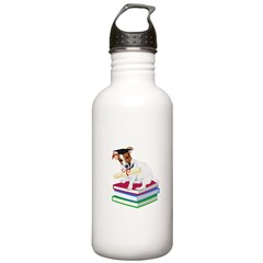 Jack Russell Terrier Graduation Water Bottle
